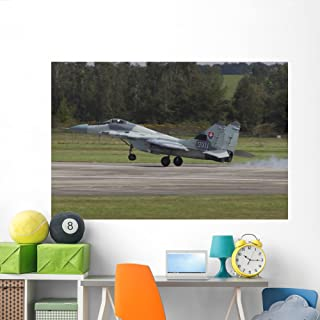 Slovak Air Force Mig-29as Wall Mural by Wallmonkeys Peel and Stick Graphic (72 in W x 48 in H) WM106590