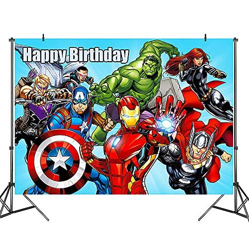 Hilloly Avengers Arrière plan, Spiderman Bleu Fond Photo, Photographie Parti Décor, Super Héros Fête D'anniversaire et Décorations Pour Evénements Accessoires de Studio Garcon