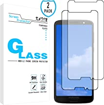 KATIN Moto G6 Screen Protector - [2-Pack] Tempered Glass for Motorola Moto G6 (5.7-inch) Screen Protector Bubble Free, Easy to Install with Lifetime Replacement Warranty