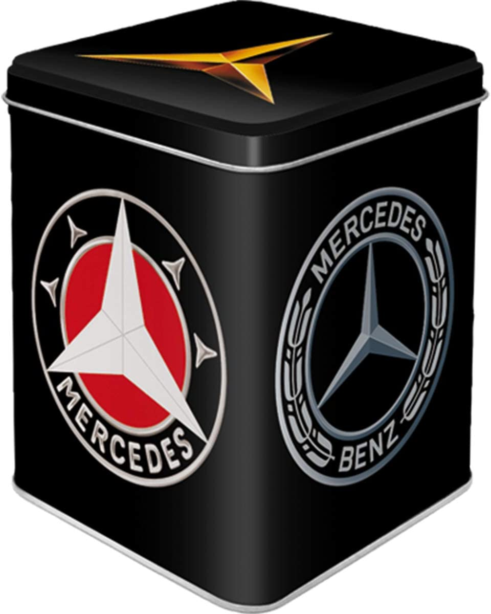 Nostalgic-Art Retro Teedose Mercedes Benz – Logos, 100g, Vi