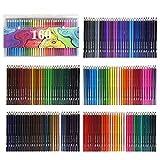 Ensemble de crayons de couleur pré-taillés professionnels 150/160/168 - Fourniture artistique pour coloriage, dessin, ombrage 160 colors