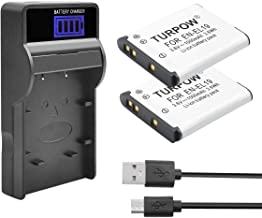 Turpow 2 Pack EN-EL19 Batteries Charger Set Competible with Nikon Coolpix S32 S33 S100 S2800 S3100 S3200 S3300 S3500 S3600 S3700 S4100 S4200 S4300 S5200 S5300 S6500 S6600 S6800 S6900 S7000