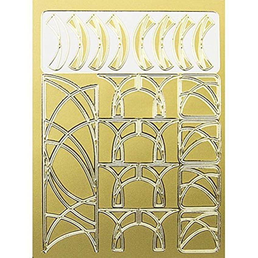 塩窓を洗うサービスネイルエンボスシール ゴールドカーブA