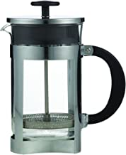LEAF & BEAN D8002 Berlin Plunger, Clear Glass, Stainless Steel, Black