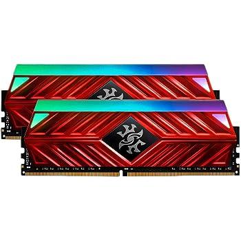 XPG Spectrix D41 RGB DDR4 3200MHz 32GB (2x16GB) 288-Pin CL16-20-20 PC4-25600 Desktop U-DIMM Memory Retail Kit Red (AX4U3200316G16-DR41)