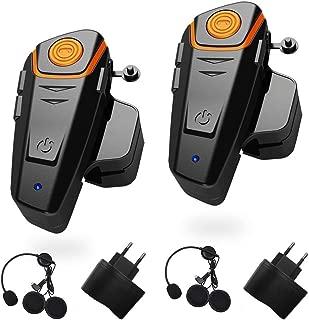 Altavoces Duales Est/éreo Manos Libres con Micr/ófono Auriculares para Tel/éfonos Inteligentes Dispositivos Compatibles con Bluetooth Docooler Auriculares Motocicleta Bluetooth 4.0 Cascos Inalambricos