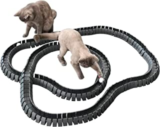 Magic Cat Track and Ball Toy Double Size for cats, kittens, pets, kitties, consisting of 16' flexible tracks and 4 balls