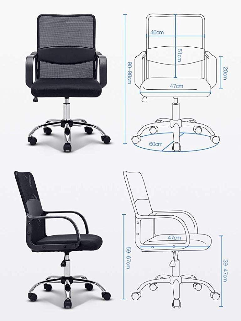 Chaise FHW de Bureau de Jeu électronique Confort Dos imperméable à l'eau en arrière conférence de de Bureau Dossier Durable de Bureau de la Salle (Color : #1) #1