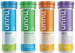 Nuun Complete Pack Sport, Vitamins, Immunity, and Rest Hydration Drink Tablets, Mixed, 42 Piece set