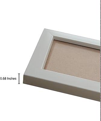 "Amazon Brand - Solimo Set of 9 Cream Photo Frames(6""X10"" : 3pcs , 4""X6"" :3 & 5""X7"" : 3pcs), Cream"