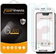 (2 Pack) Supershieldz for Google (Pixel 3 XL) Tempered Glass Screen Protector with (Easy Installation Tray) 0.33mm, Anti Scratch, Bubble Free