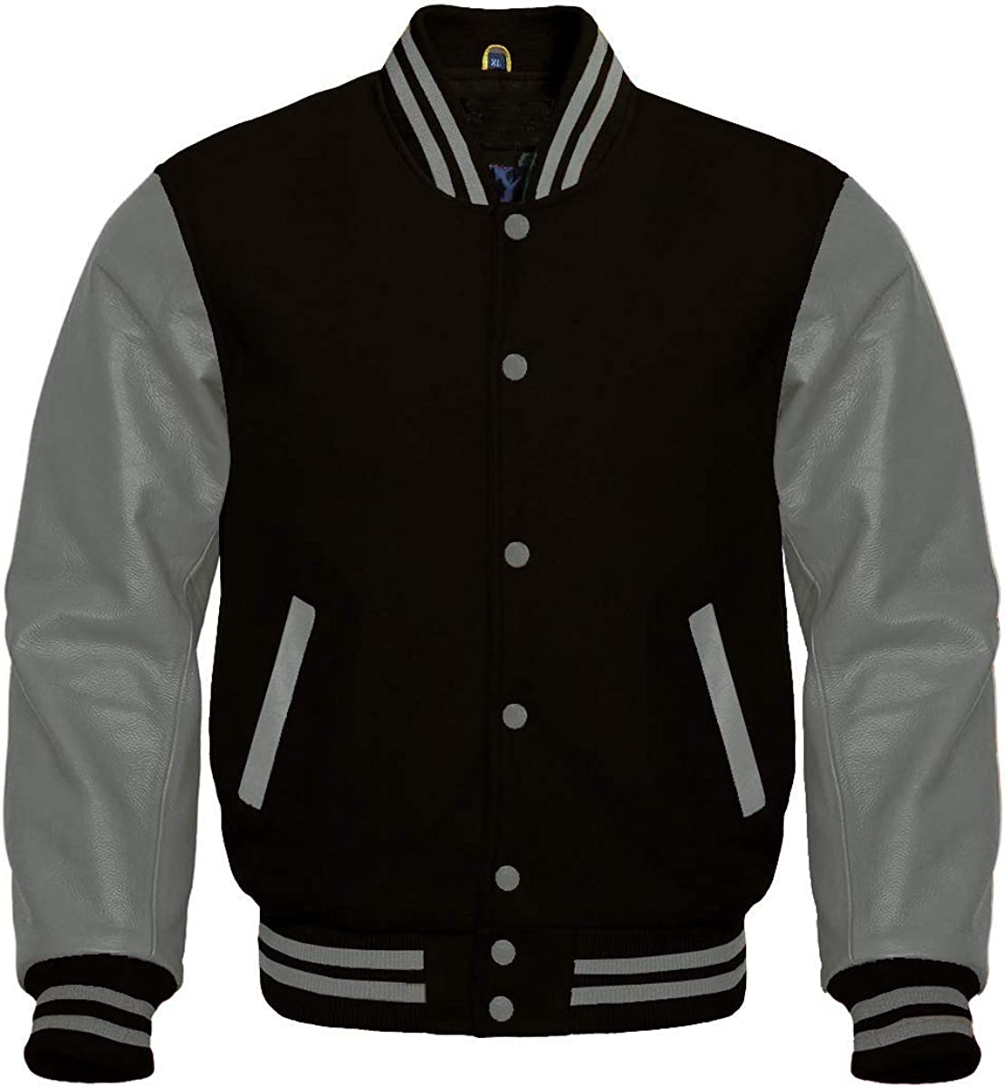 Apex Ltd Letterman Baseball School College Bomber Varsity Jacket Wool Blend & Genuine Leather Sleeves