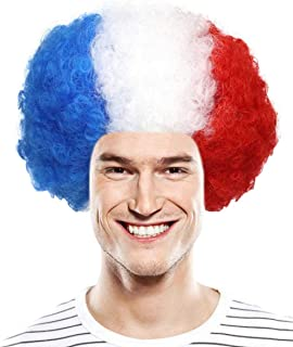 Country Flag Afro Sports Wig Collection, Adult & Kids