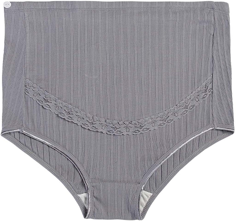 Maternity Bra Women's High-Waist Belly Lift Pregnant Women Adjustable Rib Lace Panties
