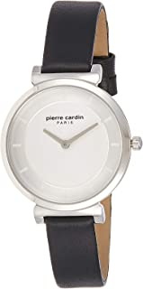 Pierre Cardin Womens Quartz Watch, Analog Display and Leather Strap A.PC902342F01U