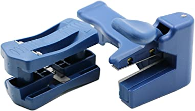 QST 2 Pcs/Set Manual Edge Banding Machine Trimming Device Block Device Wood Double Edge Head and Tail Trimmer For Carpenter PVC Binding Strip Hand Tools