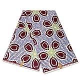 Mitex Holland Afrikanischer Stoff, Blau, Kastanienbraun,