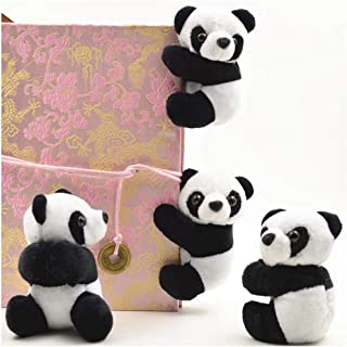 ailler 1PC Panda Note Clip Chinese Style Cute Plush Toys Bookmarks Notes Clip Stuffed Animals & Teddy Bears