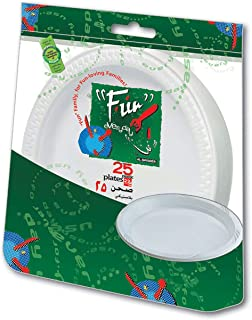 Fun® Everyday Disposable Plastic Plate set, Large,22 cm, Pack of 25