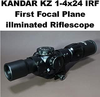 KANDAR KZ 1-4x24 FFP ライフルスコープ ミルドット レティクル マウントリング付 (627) ショートスコープ スナイパー