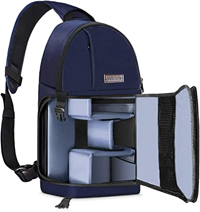 MOSISO Camera Bag, Water Repellent Shockproof Sling...