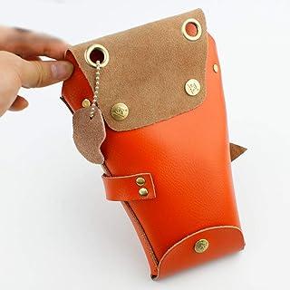 JPAKIOS 美容ヘアスタイリストのホルスターの袋、ベルトが付いている理髪師の櫛はさみのホルスター (色 : オレンジ)