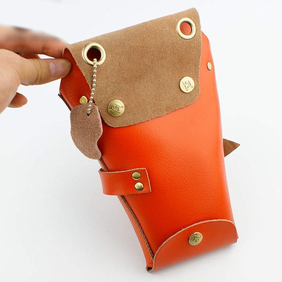 マサッチョみなすピンJPAKIOS 美容ヘアスタイリストのホルスターの袋、ベルトが付いている理髪師の櫛はさみのホルスター (色 : オレンジ)