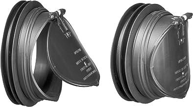 Mcalpine ARB-1 terugslagafdekking, zwart