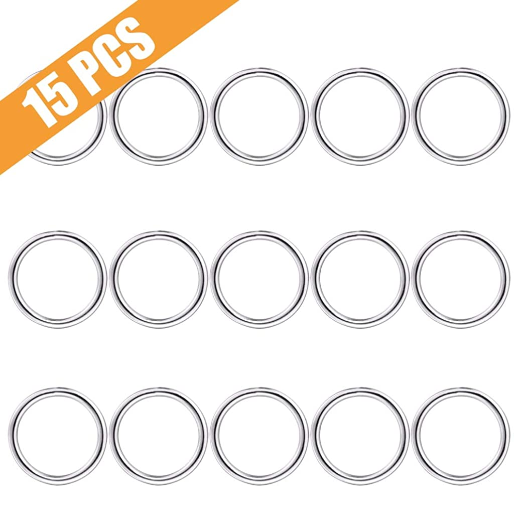 Keychain Ring, Lucky Goddness 15pcs Non-Welded O Ring- Perfect for Key Clips, Dog Collar, Purse Hardware Suplies, DIY Project, Handmade Crafts (38mm Diameter)