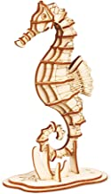 Rolife Build Your Own 3D Wooden Assembly Puzzle Wood Craft Kit Sea Horse Model, Gifts for Kids and Adults