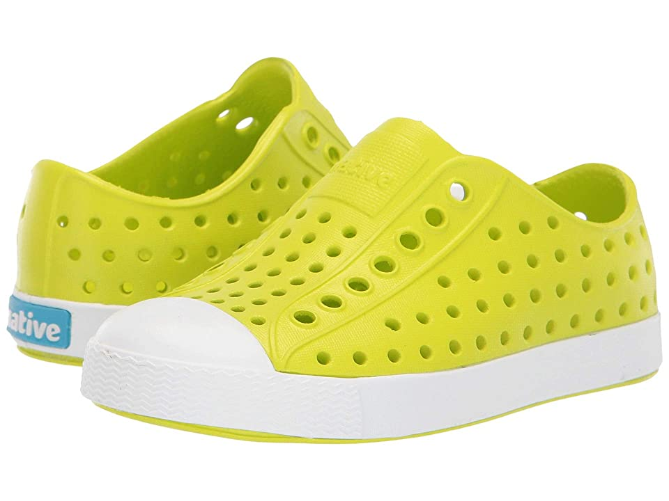 Native Kids Shoes Jefferson (Toddler/Little Kid) (Glo Green/Shell White) Kids Shoes