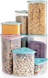 WWJHH-Food storage box Boîte de Rangement de Cuisine - 9 Ensembles - Matériau de Paille de blé - Empilable - Grande capaci...
