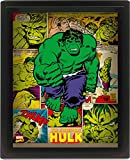 Pyramid International Hulk 10x8 Gerahmtes 3D Poster, PET