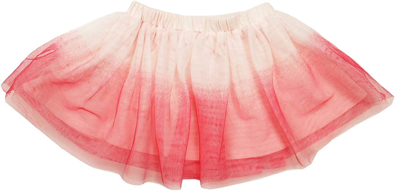 First Impressions Infant Girls Flocked Ombre Pink Tutu Skirt 12M