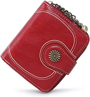 Leather Female Clutch Purse Cellphone Bag Coin Wallet Lady Brand Wax Oil Real Genuine Leather Women Wallet Money Bag