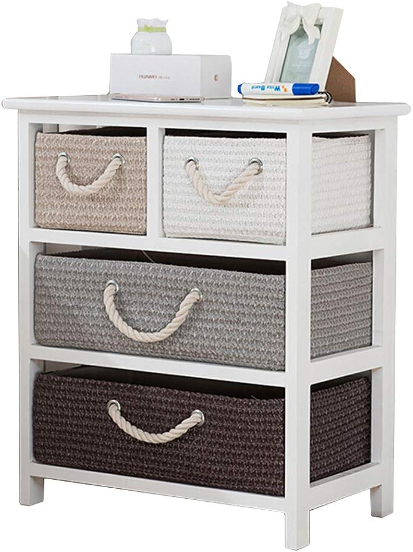 NYDZDM Bedroom Nightstand Locker with Drawer Mini Table Bedroom Side Bedside Table