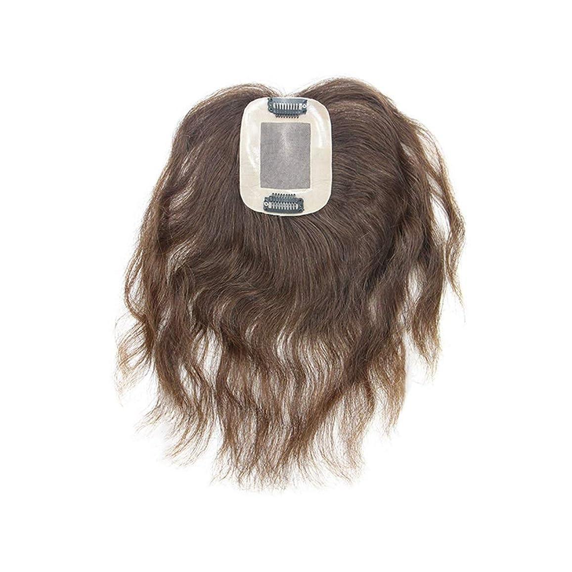 シャット理論受け継ぐBOBIDYEE 女性の毎日のドレスパーティーかつらのための手織りのリアルヘアナチュラルカーリーふわふわウィッグ (色 : Natural black, サイズ : 25cm)