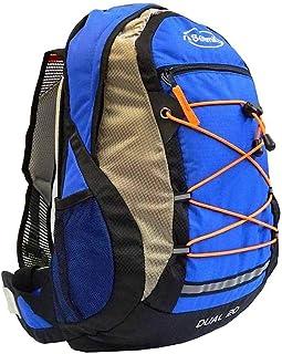 Setmil - Mochila Dual 20 litros Azul - Mochila Impermeable de Trekking, Senderismo, Caminata, Alpinismo y para Ruta o Viaje Compatible Sistema Hidratación 3 litros.