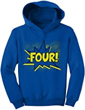 Four! Superhero Fourth Birthday - 4 Years Old Gift Idea Toddler Hoodie