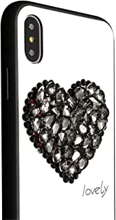 Xs Max Case Compatible with Apple iPhone Xmax Cases Protective 6.5 inch 2018 Cover Bumper 3D Luxury Love Heart Glitter Bling Crystal IP I Xmaxs X S 10 Sxmax Phone iPxsmax (Black)
