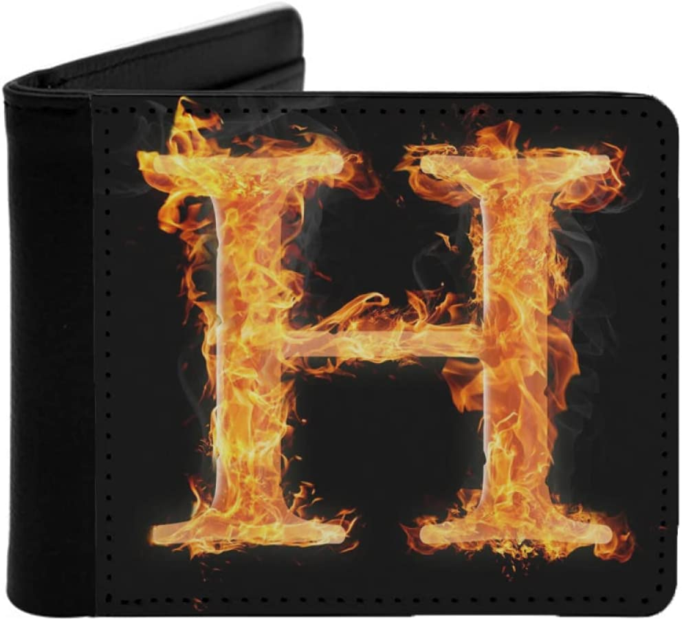 Mens Womens Las Vegas Mall Slim Wallet Letters and symbols H - Cheap SALE Start Letter in W fire