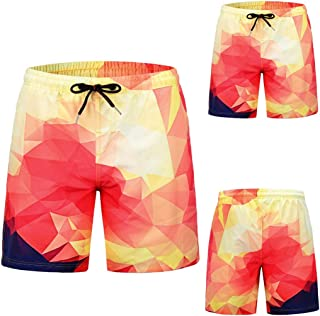 3f4cd21bae4 Xindeek Men Fashion Swimsuit Colorful Pattern Striped Boxer Briefs Quick  Dry Drawsting Elastic Waist Beach Work