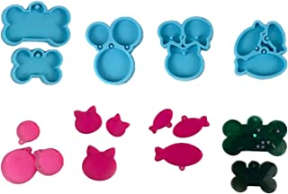 Bhuuno Pet Tag Resin Molds DIY Epoxy Keychain Silicone Molds for Pendants