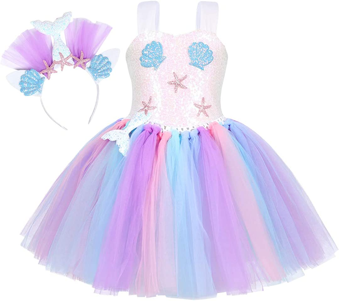 Jurebecia Princess Mermaid Tutu Girls High quality National products Dress Sequins Outf