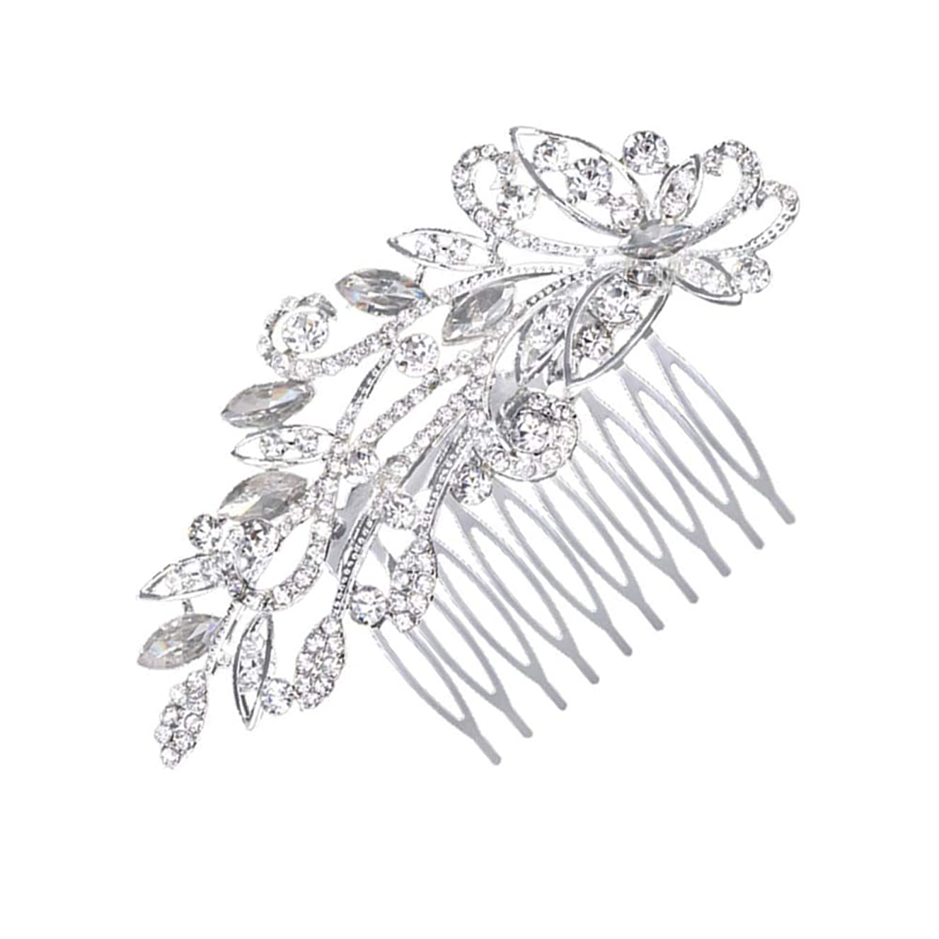 KaLaiXing Brand Bridal Hair Comb Wedding Hair Side Combs Bridal Head Pin Headpiece Crystal Pearls Flower Bride Bridesmaid-HD03