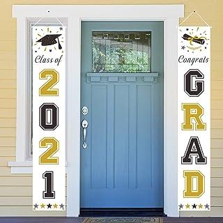 Dazonge Gold and Black Graduation Decorations 2020 | 'Class of 2020' & 'Congrats Grad' Porch Signs for Graduation Party Su...