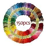 Hilos de Bordado de Hilo 36/50/100/150 madejas de Color Bordado Herramientas algodón de la Cruz de la Aguja de Coser Hilo Dental Craft Kit de Costura DIY (Color : Thread 150 MixColors, Size : 1)