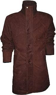 KAAZEE Longmire Robert Sheriff Brown Suede Leather Coat