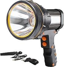 AF-WAN Handlamp, oplaadbaar, USB, oplaadbare led-handlamp, 6000 lumen, led-zaklamp, lantaarn met 5 lichtmodi, waterdicht, ...