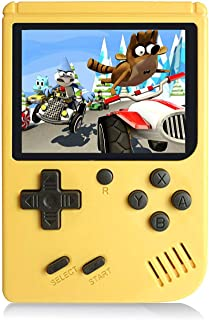 Chilartalent Handheld Games Console for Kids Adults - Retro Video Games Consoles 3 inch Screen 168 Classic Games 8 Bit Game Player with AV Cable Can Play on TV (Yellow)